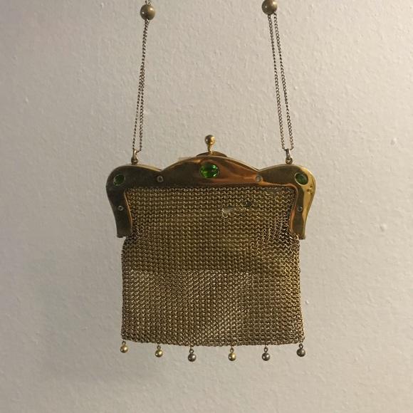 Vintage Handbags - Antique Gold Bag with gems circa 1930s